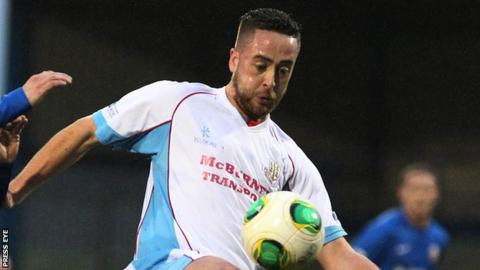 Shane Dolan in action for Ballymena United in 2014