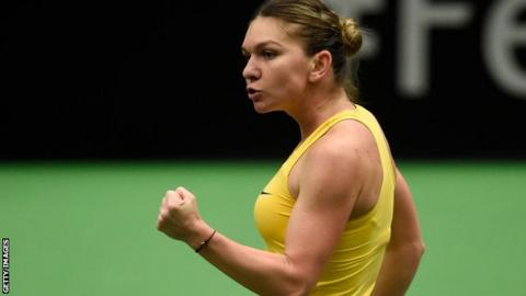 Fed Cup 2019: Halep and Pliskova win opening Fed Cup rubbers
