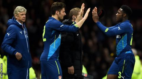 Arsenal substitutes in FA Cup