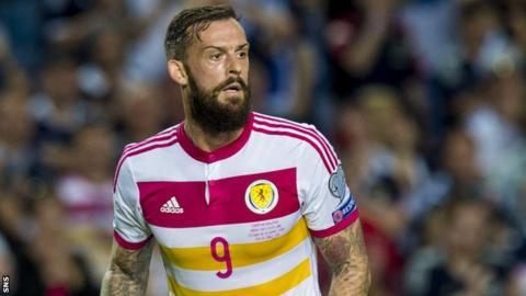 Steven Fletcher in action for Scotland in their final Euro 2016 qualifier against Gibraltar