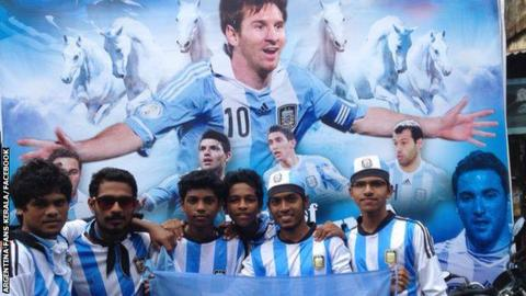 Argentina Fans in Kerala