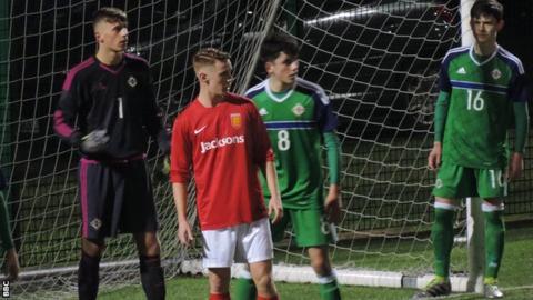 N. Ireland U18s defend a corner against Jersey U21s