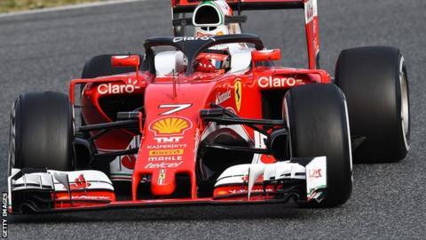 Kimi Raikkonen testing the 'halo'
