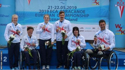 Para-canoe European Championships: Emma Wiggs retains title as GB win 10 medals in Poland