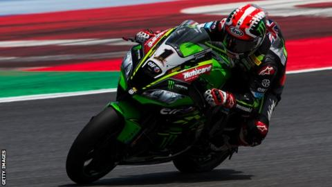 Jonathan Rea secured a ninth win of the season in race one at Misano
