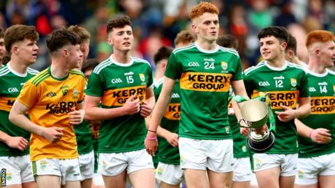 Kerry's players after their Munster Final win over Cork last month