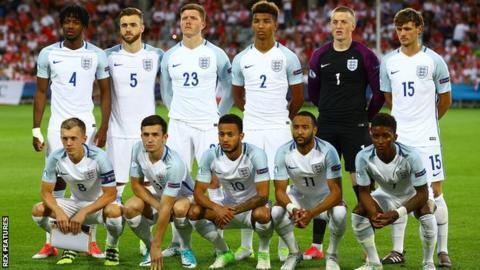 England team at Under-21 European Championship