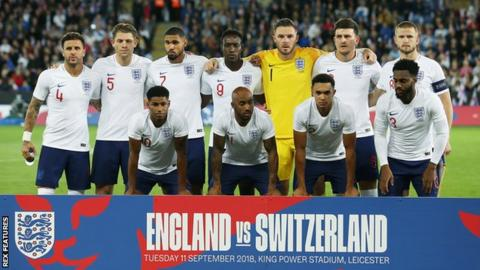 England starting XI against Switzerland