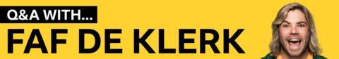 Q&A with Faf de Klerk