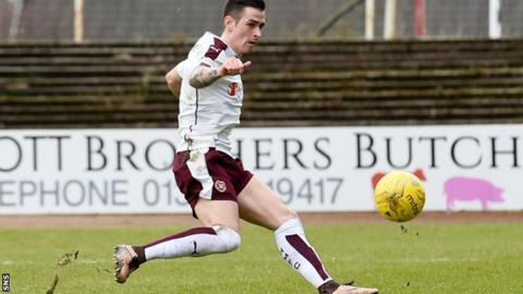 Jamie Walker slots home for Hearts
