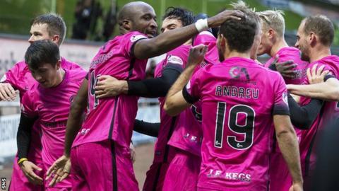 William Edjenguele scored Dundee United's second goal