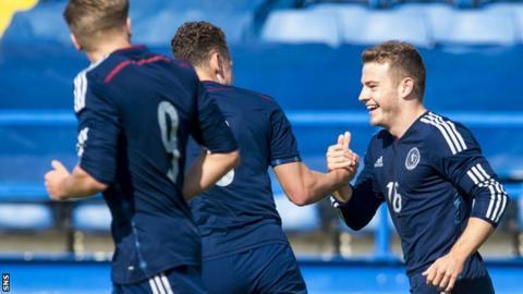 Ryan Fraser celebrates his goal