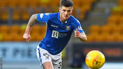 Kennedy has scored five goals in 21 appearances this season for St Johnstone