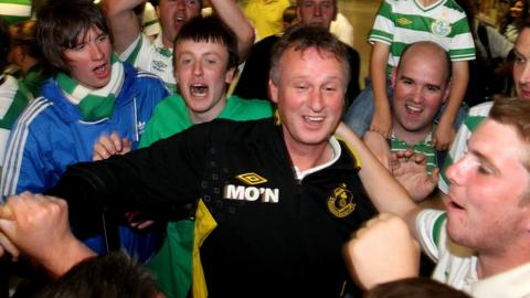 O'Neill led Shamrock Rovers to two League of Ireland titles and the group stage of the 2011/12 Europa League