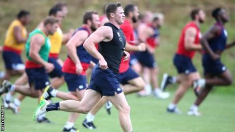Chris Ashton training with the England squad last month