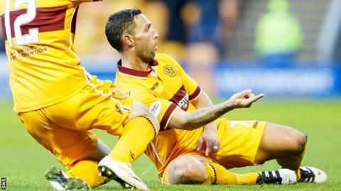 Scott McDonald celebrates scoring for Motherwell