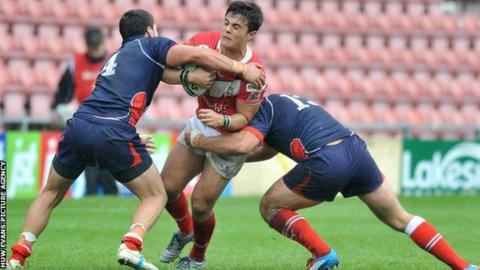London Broncos three-quarter Michael Channing played nine times for Wales