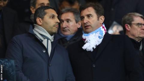 Man City chairman Khaldoon Al Mubarak and chief executive Ferran Soriano