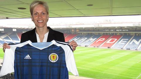 Shelley Kerr at Hampden Park