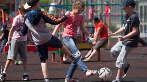 Playground football