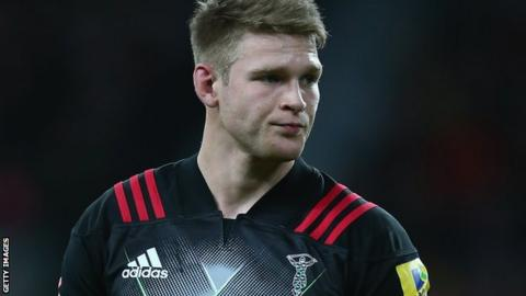 Henry Cheeseman in action for Harlequins