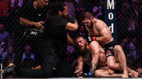 Khabib Nurmagomedov beats Conor McGregor