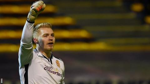 Connor Ripley celebrates with Motherwell