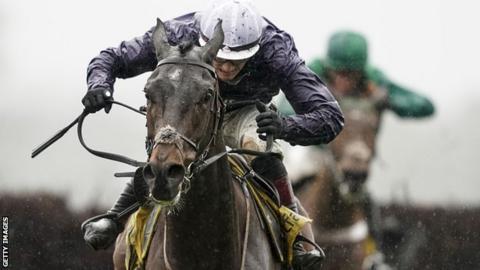 Sam Twiston-Davies on board Riders Onthe Storm