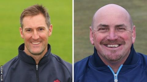 Mark Chilton (left) spent 14 years as a player with Lancashire, as did Karl Krikken with Derbyshire