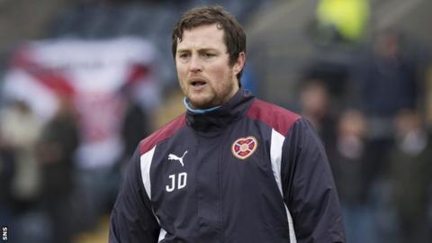 Hearts interim boss Jon Daly