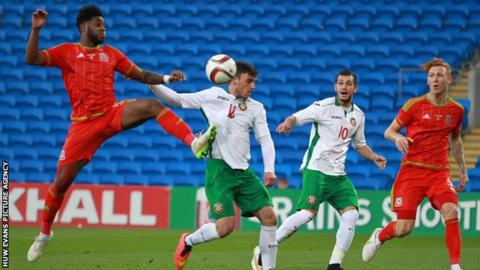 Ellis Harrison in action against Bulgaria