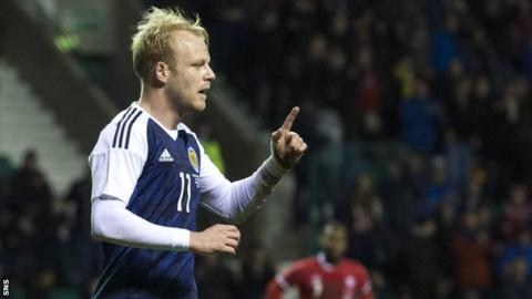 Steven Naismith rescued Scotland with a left-foot finish after poor play from Canada