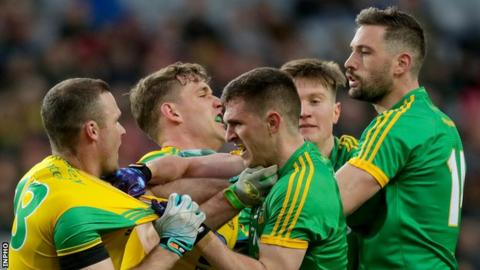Tempers flare in the Division Two League final won narrowly by Donegal