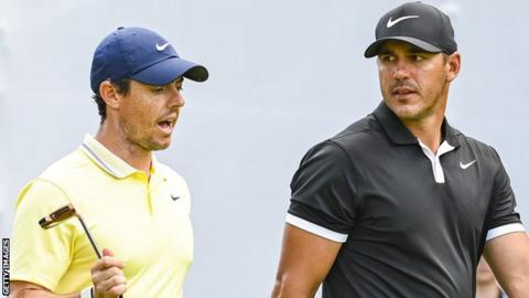 "McIlroy (left) says the two players are still ""good friends"" and that only if Koepka's comments are taken out of context can they be viewed as an issue"