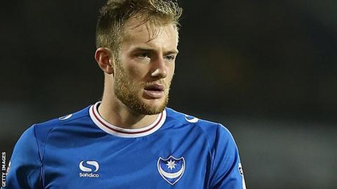 Portsmouth central defender Matt Clarke