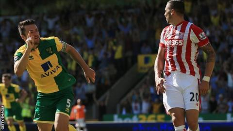 Russell Martin equalises for Norwich