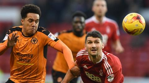 Wolves winger Helder Costa (left) opened the scoring in the first half