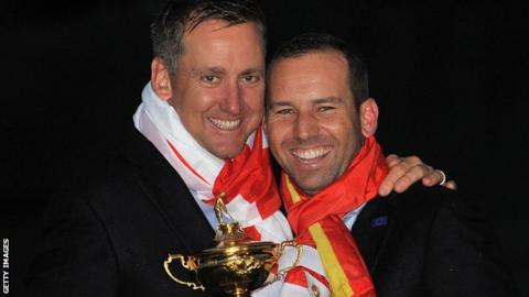 Ian Poulter and Sergio Garcia