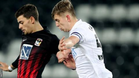 Keston Davies captained Swansea in last season's EFL quarter-final defeat on penalties by eventual winners Coventry