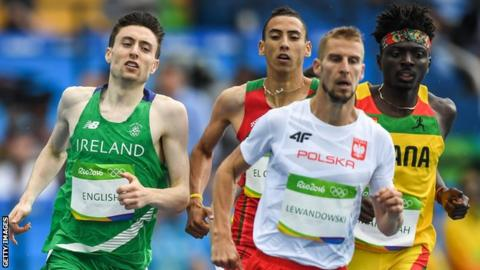 Mark English ran a composed race in his 800m heat in Rio