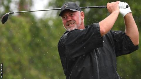 Darren Clarke is four behind leader Paul Broadhurst going into the final round at Royal Lytham