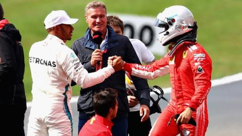 Ferrari's Sebastian Vettel and Mercedes' Lewis Hamilton