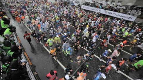 Runners in the 2019 Tokyo Marathon