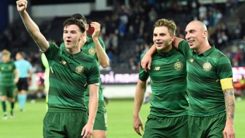 Celtic beat Rosenborg on their way to the Champions League group stages last year