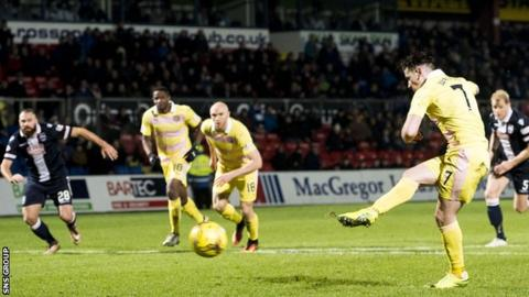 Jamie Walker could not covert the late penalty for Hearts