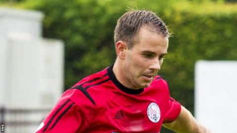 Alan Trouten scored a hat-trick against Hamilton Accies at the start of the season