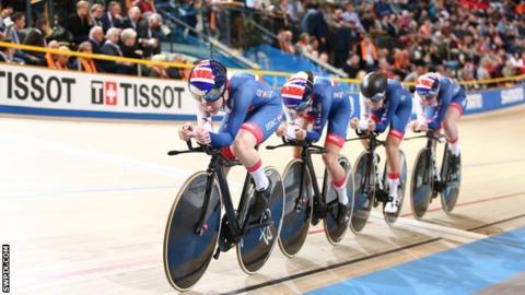 Britain win team pursuit silver