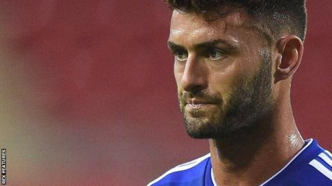 Gary Madine in action for Cardiff City