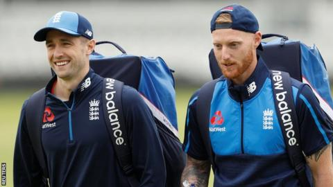 Chris Woakes (left) and Ben Stokes