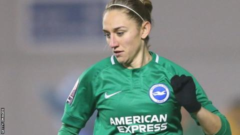 Aileen Whelan in action for Brighton